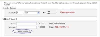 adding A record to DNS to setup Dlvr shortlink via custom domain