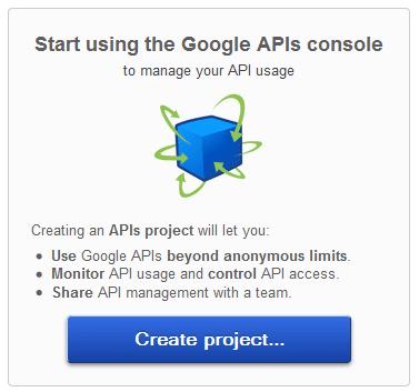 Create Project - Google APIs