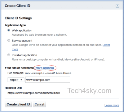 Setting up Oauth